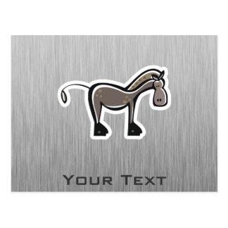 Niedliches Pferd; Metall-Blick Postkarte