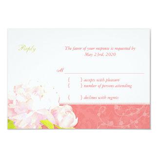 Niedliches Pfingstrosen-Frühlings-Hochzeit UAWG 8,9 X 12,7 Cm Einladungskarte