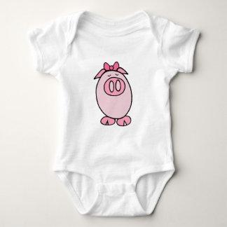 Niedliches Piggy Baby Strampler