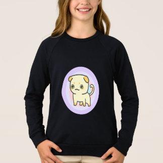 Niedliches raglan-Sweatshirt der Kätzchen-Mädchen Sweatshirt