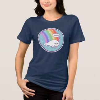 Niedliches Regenbogen-Siegel T-Shirt
