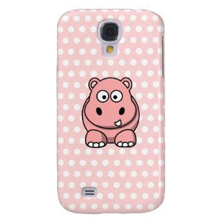 Niedliches rosa Flusspferd Galaxy S4 Hülle
