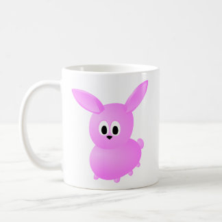 Niedliches rosa Häschen-Kaninchen Kaffeetasse