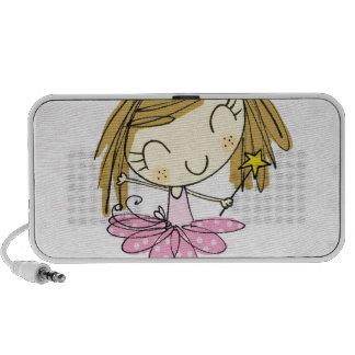 Niedliches rosa Mädchen Prinzessin Ballet Laptop Speaker