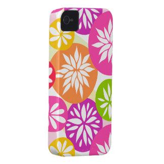 Niedliches rosa orange Blumen BlackBerry-mutiger iPhone 4 Hülle