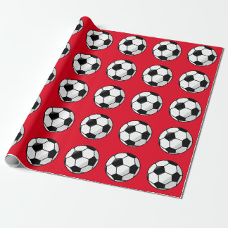 Niedliches Rot, Fußball-Verpackungs-Papier Geschenkpapier