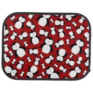 Niedliches rotes Penguinmuster Autofußmatte