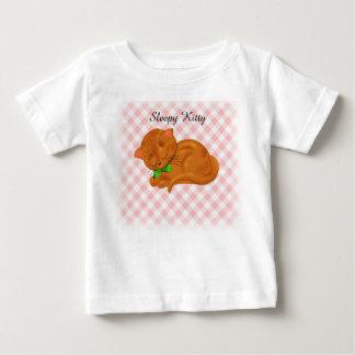 Niedliches Schlafenkätzchen Baby T-shirt