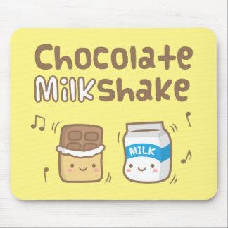 Niedliches Schokoladen-Milchshake-Gekritzel für Mauspads