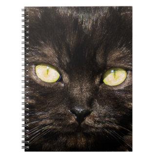 Niedliches schwarze Katzen-Gesicht Notizblock