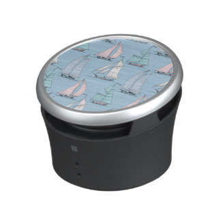 Niedliches Segelboot-Muster 1 Bluetooth Lautsprecher