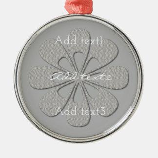 Niedliches silbernes Schneeflocke-Blumen-Baby Silbernes Ornament