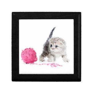 Niedliches sonderbares Kätzchen entzückendes Low Erinnerungskiste