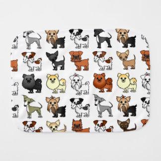 Niedliches Spielzeug-Hundezucht-Muster Spucktuch