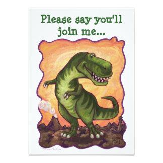 Niedliches T-Rex Dinosaurier-Geburtstags-Party Karte