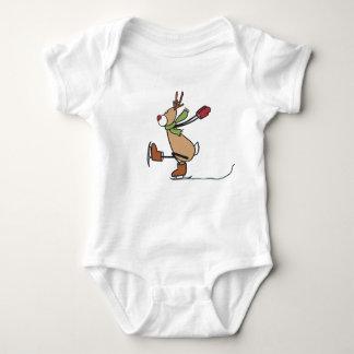 Niedliches Tanzen-Ren - Weihnachten Baby Strampler