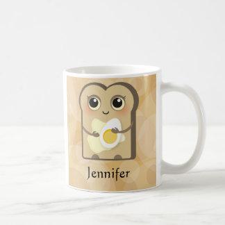 Niedliches Toasties - Butter und Ei Kaffeetasse
