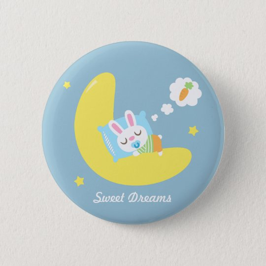 Niedliches Traumland-Baby-Häschen für Kinder Runder Button 5,1 Cm