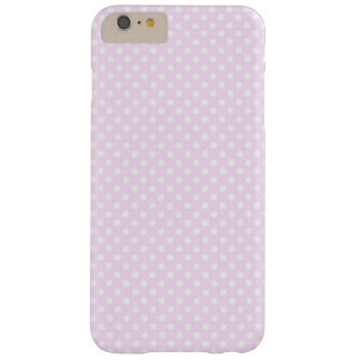 Niedliches Trendy rosa weißes Polka-Punkt-Muster Barely There iPhone 6 Plus Hülle