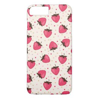Niedliches und Girly rosa Erdbeermuster iPhone 7 Plus Hülle