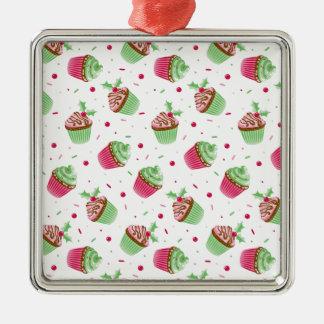 Niedliches und süßes Weihnachten farbige kleine Silbernes Ornament