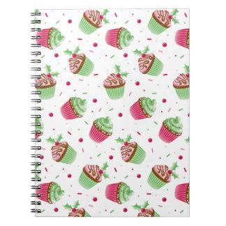 Niedliches und süßes Weihnachten farbige kleine Spiral Notizblock