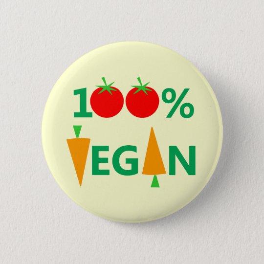 Niedliches veganes Abzeichen oder Knopf Runder Button 5,7 Cm
