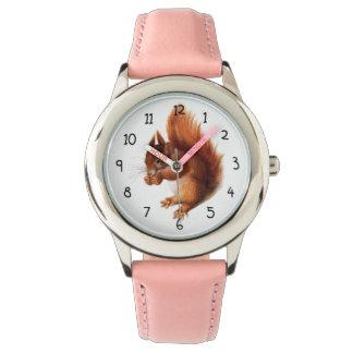 Niedliches Vintages rotes Eichhörnchen Armbanduhr