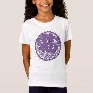 Niedliches violettes lila schönes elegantes cooles T-Shirt
