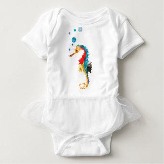 Niedliches Watercolor SEEpferdeSeepferd Ozean-Tier Baby Strampler