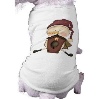 Niedliches Weihnachten Ärmelfreies Hunde-Shirt