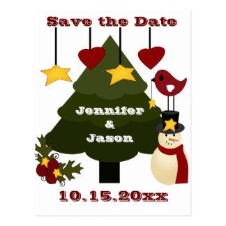 Niedliches Weihnachten, das Save the Date Postkarte