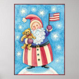 Niedliches Weihnachten, patriotischer Poster