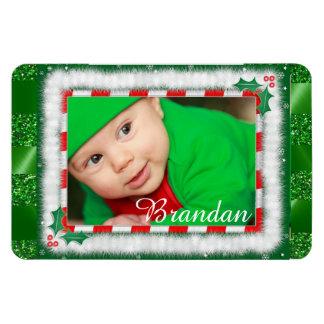 Niedliches Weihnachtsroter und grüner Magnet