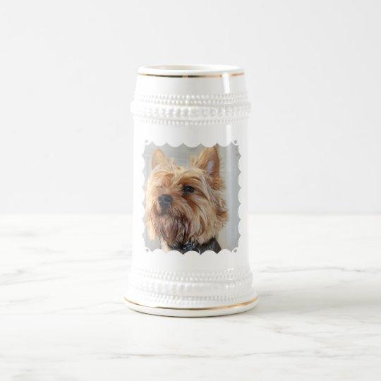 Niedliches Yorkshire-Terrier-Bier Stein Bierkrug