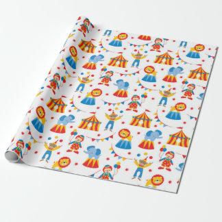 Niedliches Zirkus-Tier-Verpackungs-Papier Geschenkpapierrolle