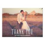 Niedlichster Dank Wedding | dankt Ihnen Foto-Karte 12,7 X 17,8 Cm Einladungskarte