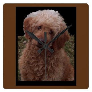 Niedlichster Hund in der Welt Quadratische Wanduhr