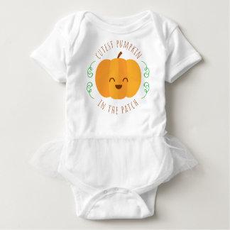 Niedlichster Kürbis im Flecken  Tutu-Bodysuit Baby Strampler