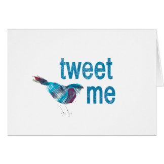 Niedlichster Twitter-Blau-Vogel Karte