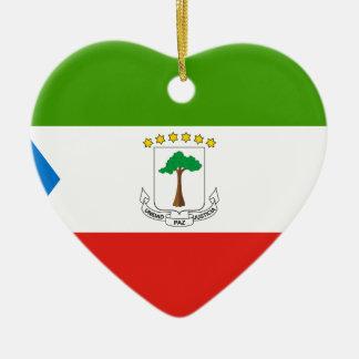 Niedrige Kosten! Äquatoriale Guinea-Flagge Keramik Ornament