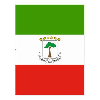 Niedrige Kosten! Äquatoriale Guinea-Flagge Postkarte