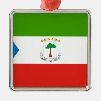 Niedrige Kosten! Äquatoriale Guinea-Flagge Silbernes Ornament