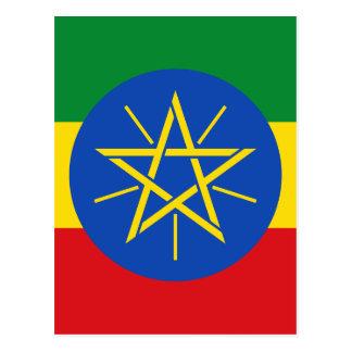 Niedrige Kosten! Äthiopien-Flagge Postkarte
