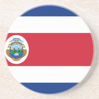 Niedrige Kosten! Costa Rica-Flagge Getränkeuntersetzer