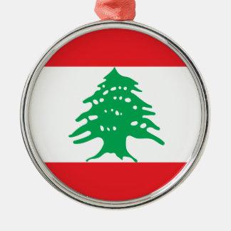 Niedrige Kosten! Der Libanon-Flagge Silbernes Ornament