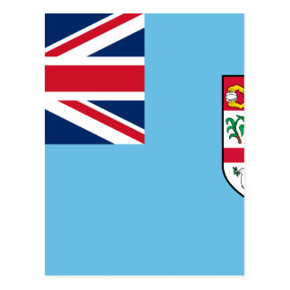 Niedrige Kosten! Fidschi-Flagge Postkarte