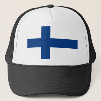 Niedrige Kosten! Finnland-Flagge Truckerkappe