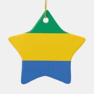 Niedrige Kosten! Gabun-Flagge Keramik Ornament