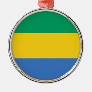 Niedrige Kosten! Gabun-Flagge Silbernes Ornament